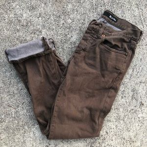 Kr3w K slims brown pants 👖